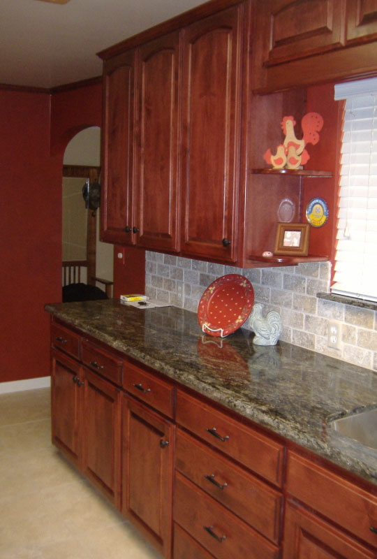 Kitchen Cabinets - RP, Alder with Cherry Finish