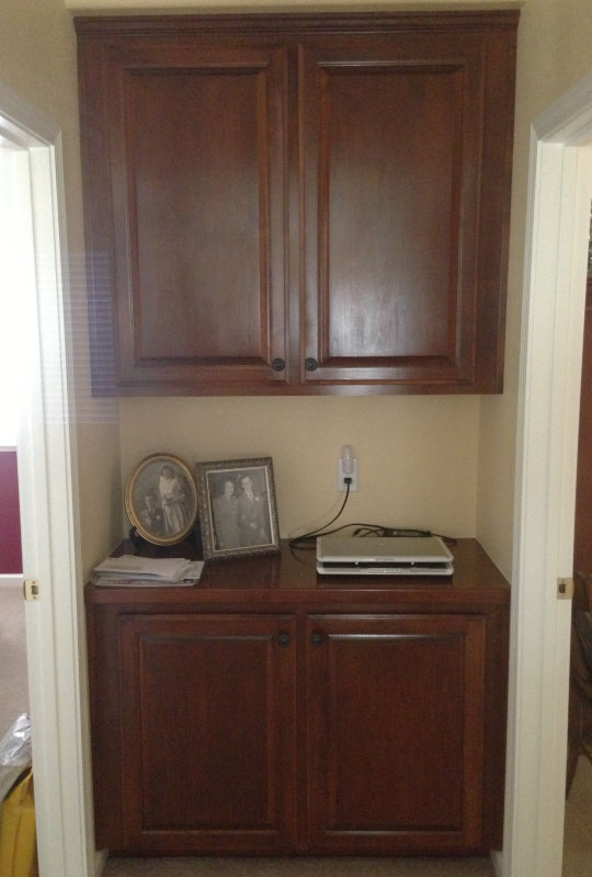 Alder with Cherry Stain - Hallway Cabinet