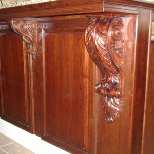 Cherry with Cherry Stain and Special Order Corbels