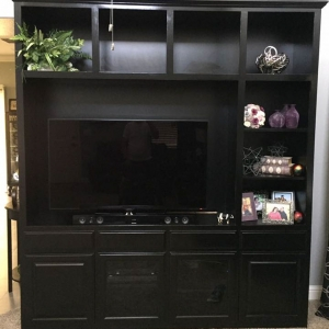 Entertainment Center - Raised Panel (RP) Doors & Glass Doors